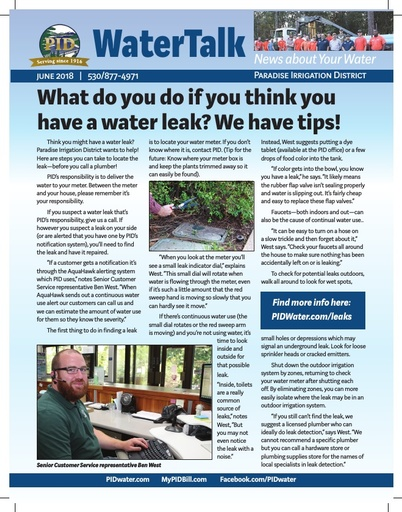 Water Talk - June 2018