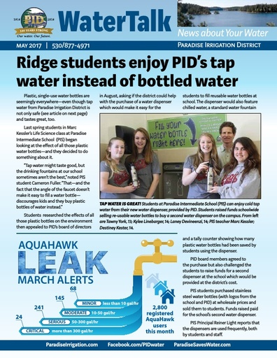 Water Talk - May 2017