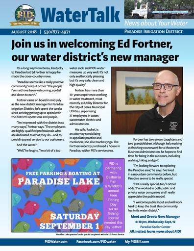 Water Talk - August 2018